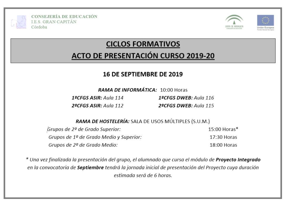 Inicio Secretaría Online
